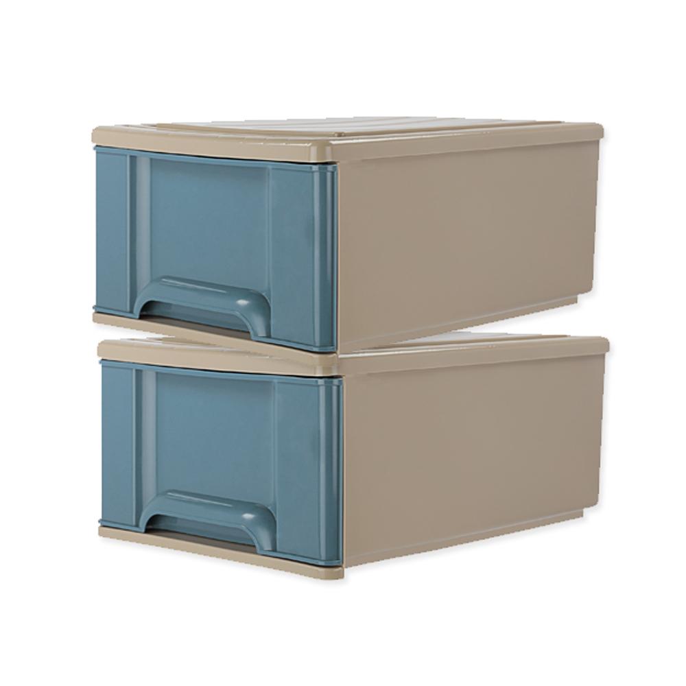 【收納屋】『海藍』35L 大抽屜整理箱 (二入/ 組)