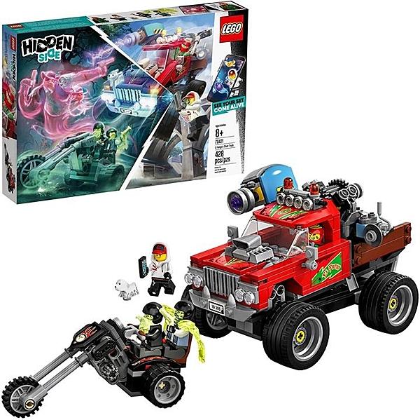 LEGO 樂高 Hidden Side El Fuego的特技卡車70421 8歲以上男孩和女孩的幽靈玩具套裝(428件)