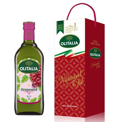 【史代新文具】奧利塔Olitalia 1000ml 葡萄籽油