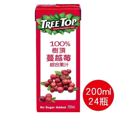 【史代新文具】樹頂TreeTop 200ml 利樂包 100%蔓越莓綜合果汁(1箱24瓶)