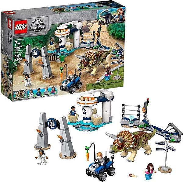 LEGO 樂高 侏羅紀世界三角龍大暴走75937(447件)