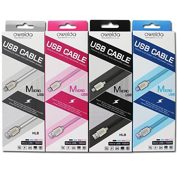 OWEIDA 充電線 傳輸線 Micro USB ASUS ZenFone Max ZB555KL 快充線 水管線 3A 100公分