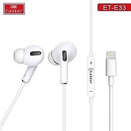 【Earldom】藝鬥士 ET-E33蘋果耳機 lightning蘋果線控彈窗藍牙耳機 即插即用 可通話聽歌