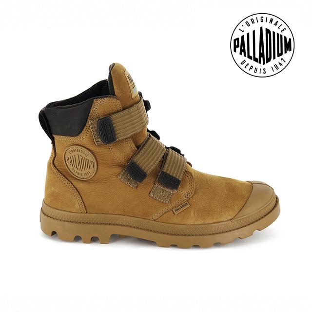 PALLADIUM PAMPA CUFF WP LUX ST黏扣皮革防水靴-女-琥珀棕