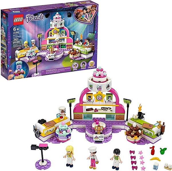 LEGO 樂高 朋友烘焙比賽41393 套裝烘焙玩具(361件)
