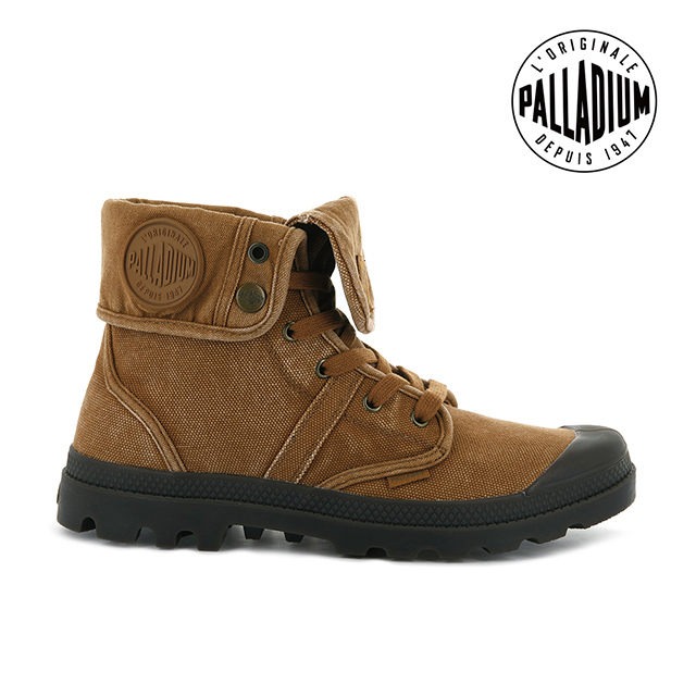 PALLADIUM PALLABROUSE 反摺帆布靴 男 土黃 02478-251
