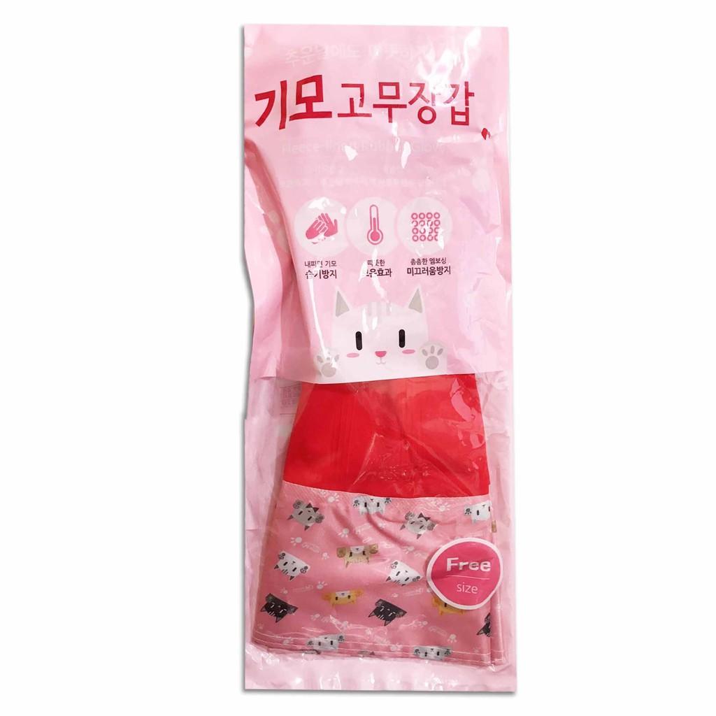 韓國 現貨 橡膠手套 可愛貓咪