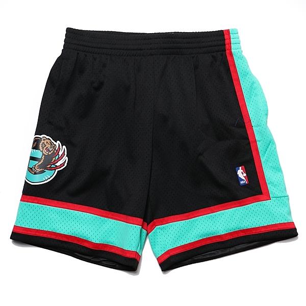 MITCHELL & NESS M&N 短褲 球褲 復古 灰熊 黑綠紅 (布魯克林) MNSWSG250A
