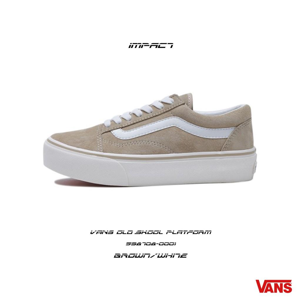 Vans Old Skool Platform 厚底 厚底鞋 奶茶色 598708-0001 IMPACT