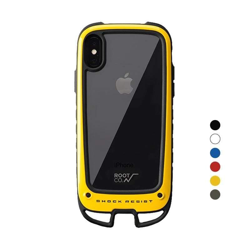 iPhone X / Xs Gravity Hold. 雙掛勾式軍規防摔手機保護殼 - 共六色 黃色