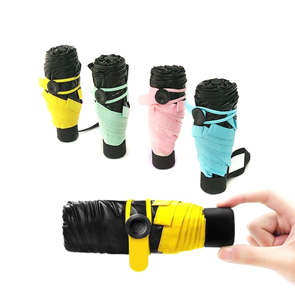 輕量級迷你抗UV口袋黑膠傘雨傘遮陽傘