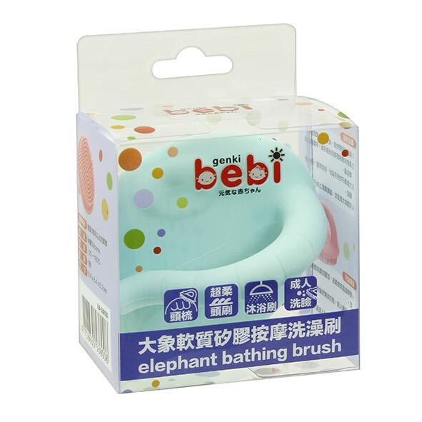 元氣寶寶 大象軟質矽膠按摩洗澡刷