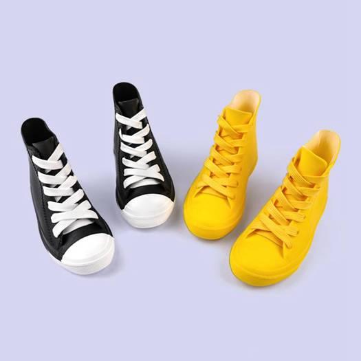雨鞋兒童休閒防滑防水寶寶雨靴男童女童防滑水鞋短筒純色時尚膠鞋