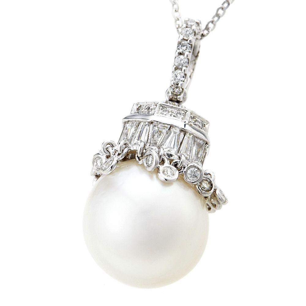 Dolly 天然 南洋珍珠13mm 14K金鑽石項鍊