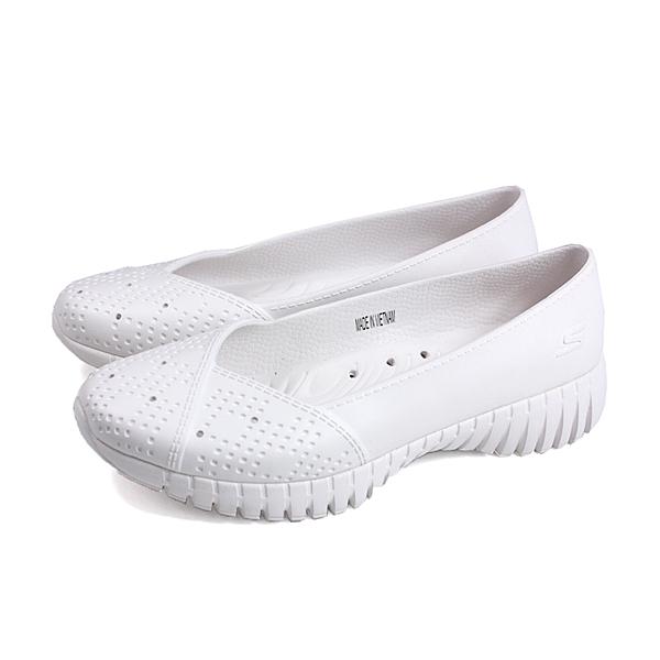 SKECHERS CALI GEAR 懶人鞋 防水 女鞋 白色 111117WHT no176