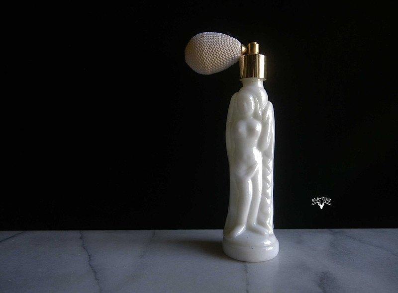 【老時光 OLD-TIME】早期牛奶玻璃香水瓶