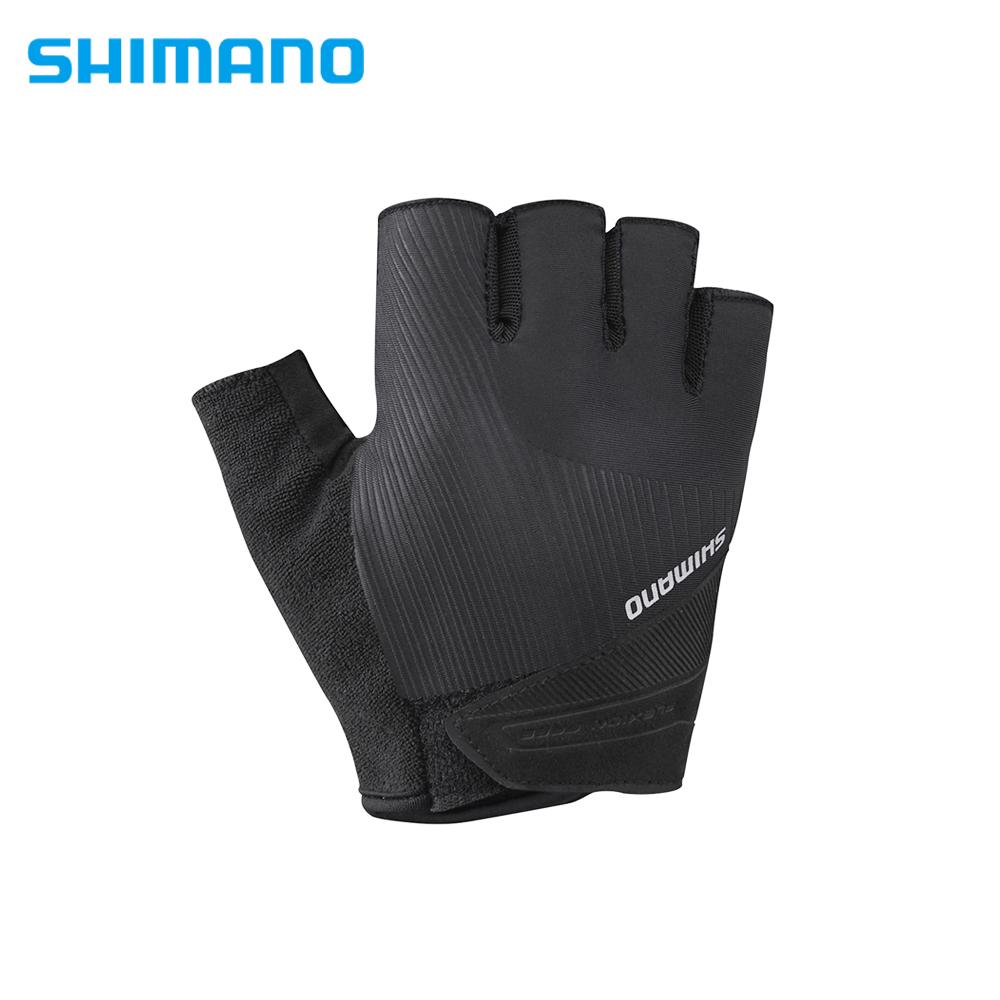 SHIMANO ESCAPE 自行車運動半指手套 男用 黑色
