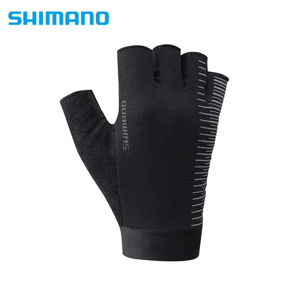 SHIMANO CLASSIC 自行車運動半指手套 男用 黑色