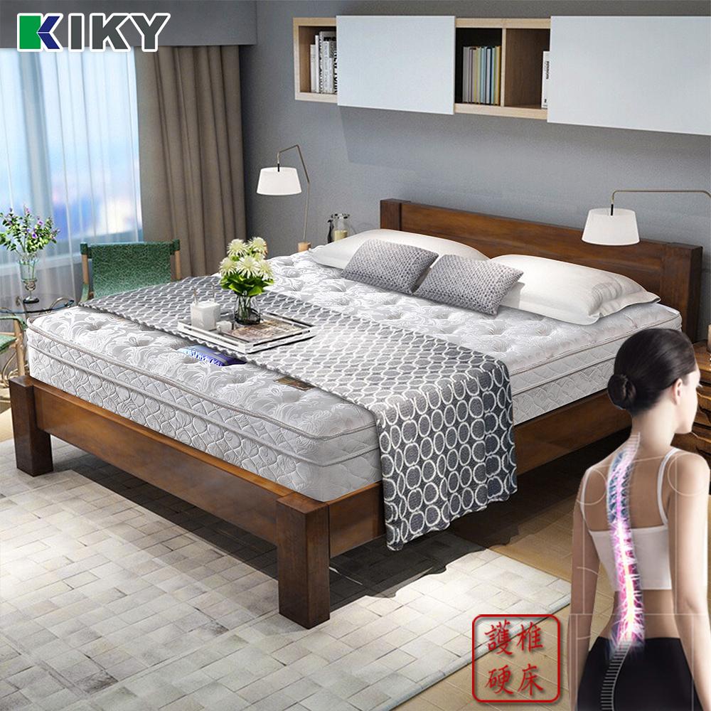 【KIKY】二代德式療癒型護背硬式彈簧床墊 單人加大3.5尺