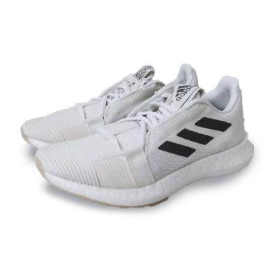 adidas 慢跑鞋 緩震 透氣 運動 休閒 女鞋 白 灰 EG0944 SenseBOOST Go