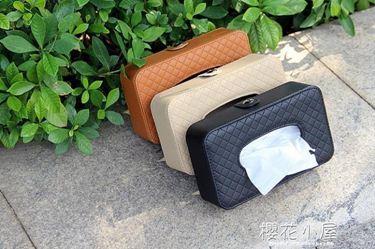 面紙盒汽車內飾用品車載車用紙巾盒 汽車創意遮陽板掛式天窗椅背抽紙盒居家物語生活館