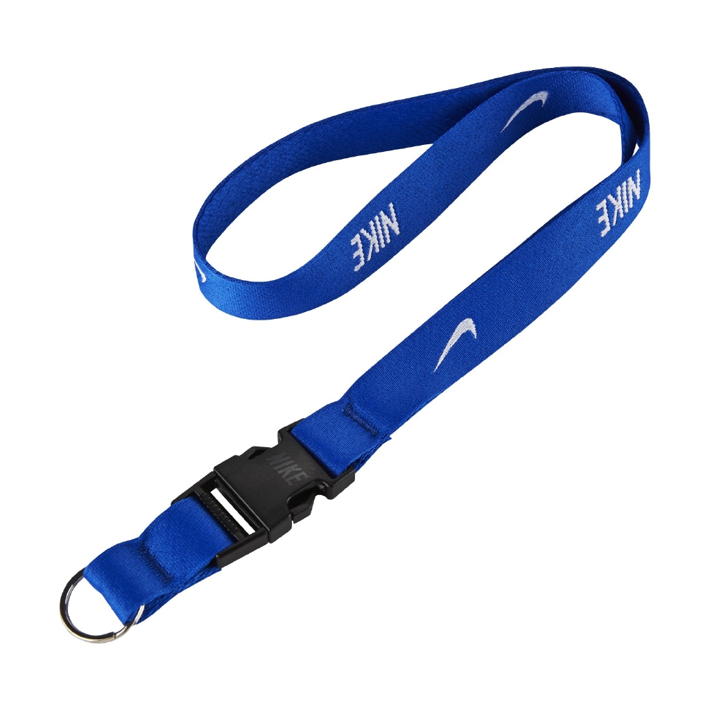 Nike 識別證吊帶 Lanyard 藍 白 掛繩 基本款 勾勾 電繡Logo 【ACS】 NIA1741-3NS