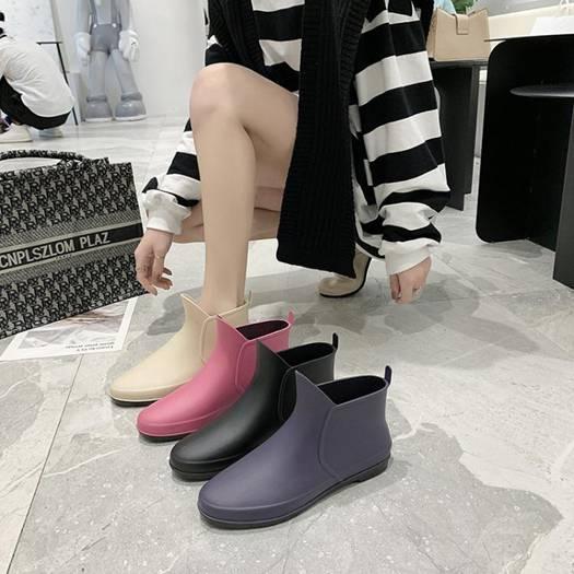 雨鞋日韓時尚女士防滑雨靴短筒買菜廚房膠鞋餐廳低幫工作防水鞋夏