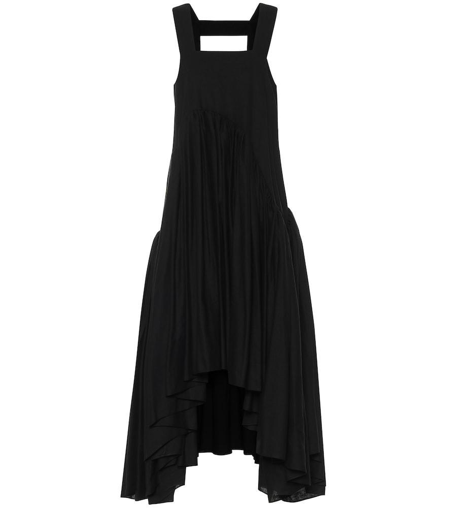 Paula's Ibiza linen-blend midi dress