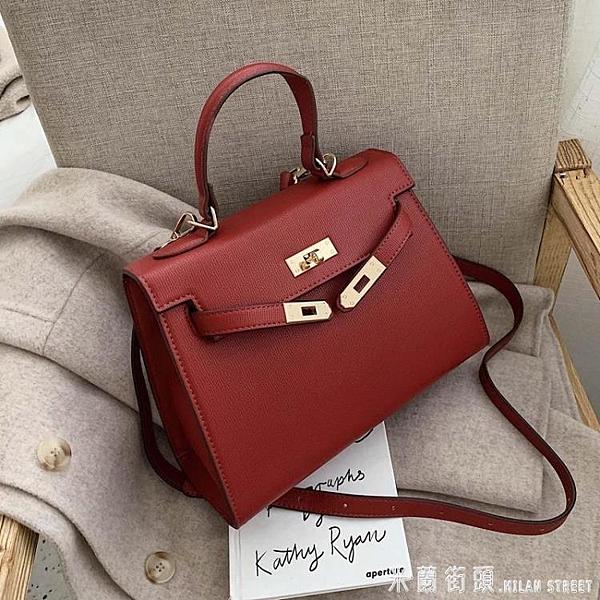 手提包 歐美時尚女士包包潮正韓百搭質感斜挎包高級感手提凱莉包