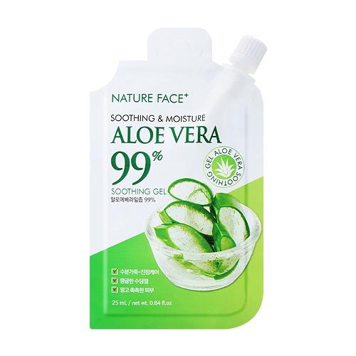 韓國 Nature Face 99%蘆薈保濕舒緩凝膠25ml 攜帶包/隨身包【小三美日】D549025