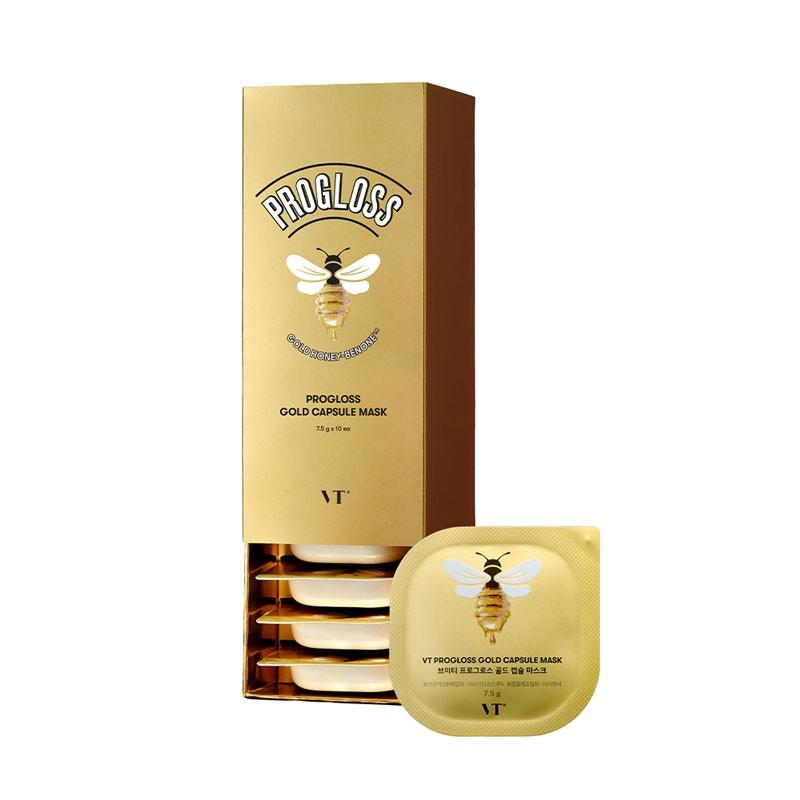 韓國 VT 黃金蜂蜜泥膜 (盒裝/10入) 7.5gx10 泥膜 面膜