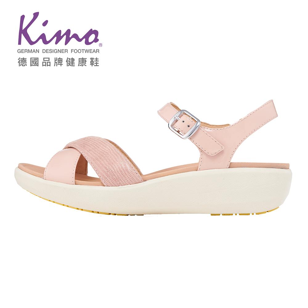 Kimo 輕量彈力交叉繫帶涼鞋(氣質粉KBJSF087210)