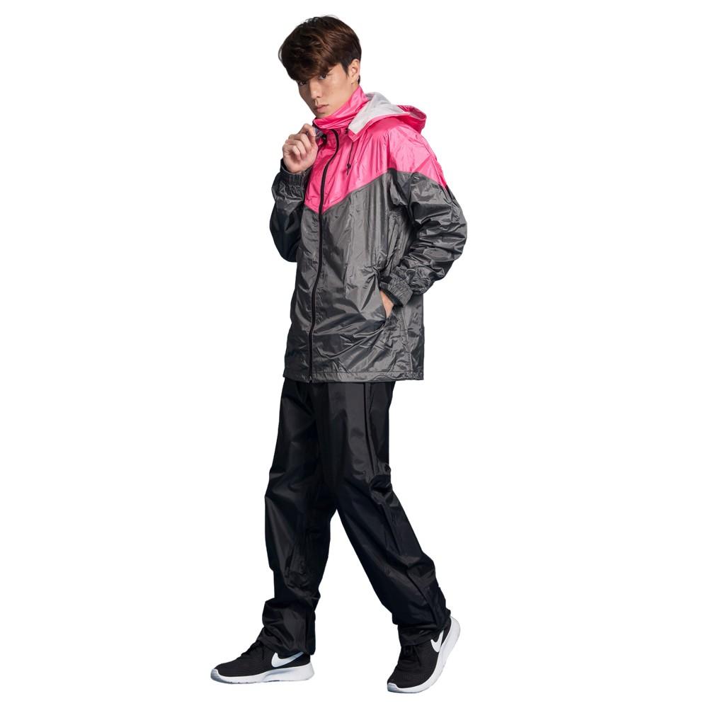 BrightDay 御風者兩件式風雨衣 桃 雨衣 兩件式雨衣《比帽王》