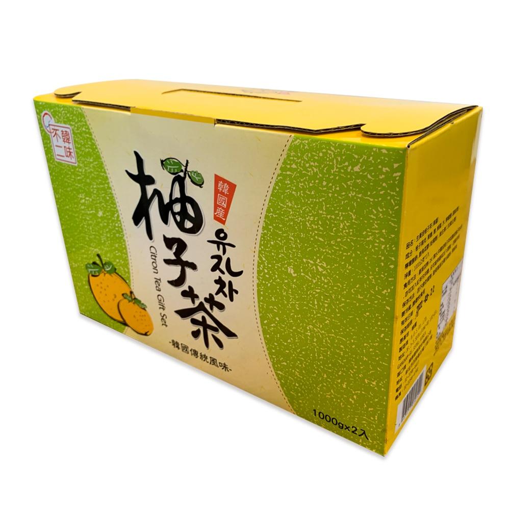韓味不二 柚子茶飲組 1公斤 X 2入