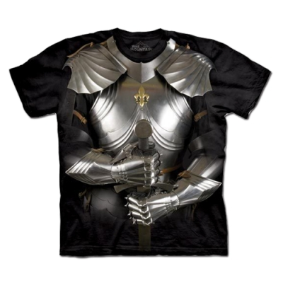 摩達客-美國進口The Mountain 自然純棉系列 變身盔甲 純棉環保藝術中性短袖T恤(現貨)