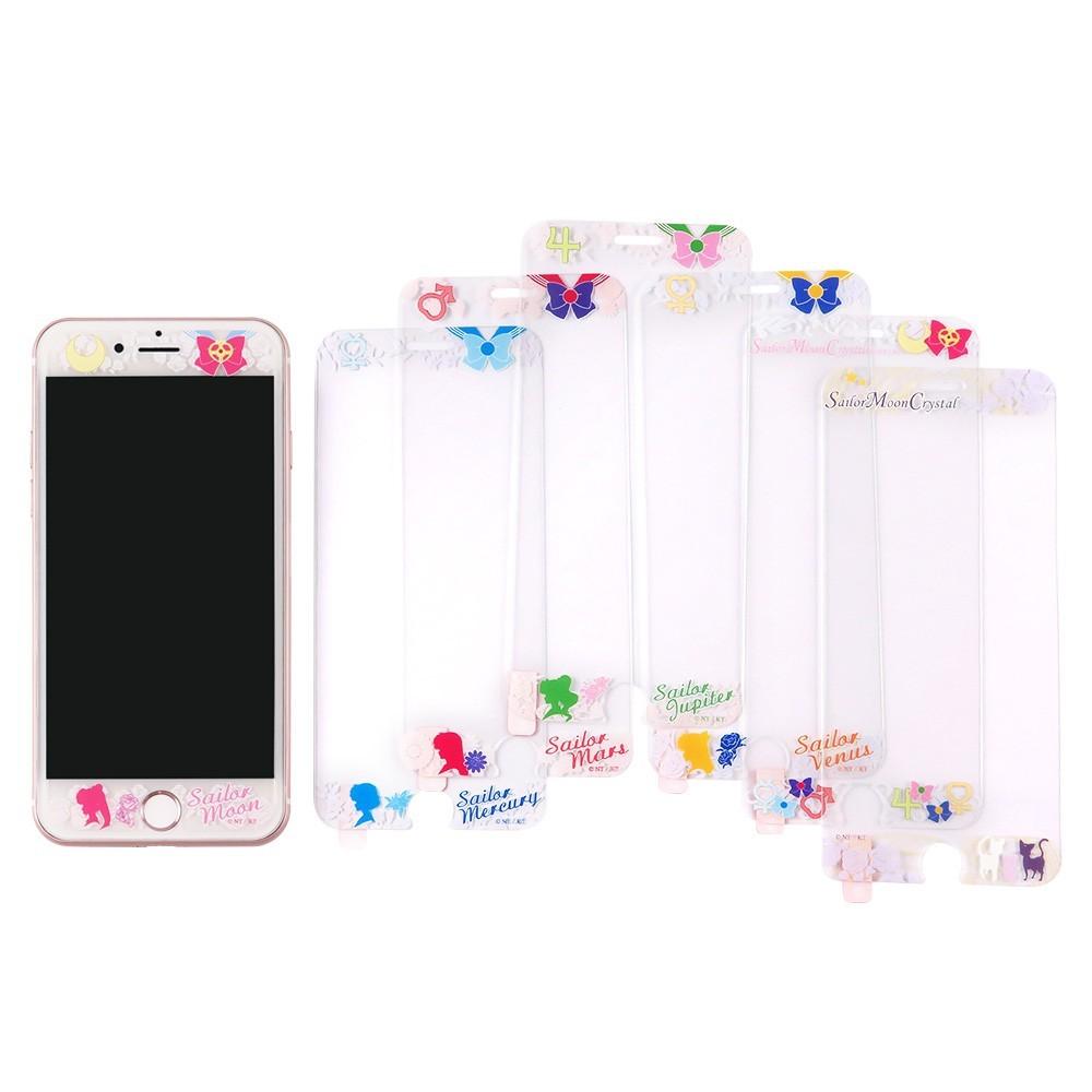 美少女戰士 9h強化玻璃彩繪保護貼_iphone 6/6s/7/8 plus(5.5吋共用)