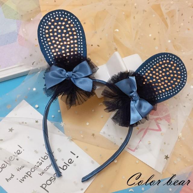 【卡樂熊】韓版紗紗蝶結造型髮箍(藍色)