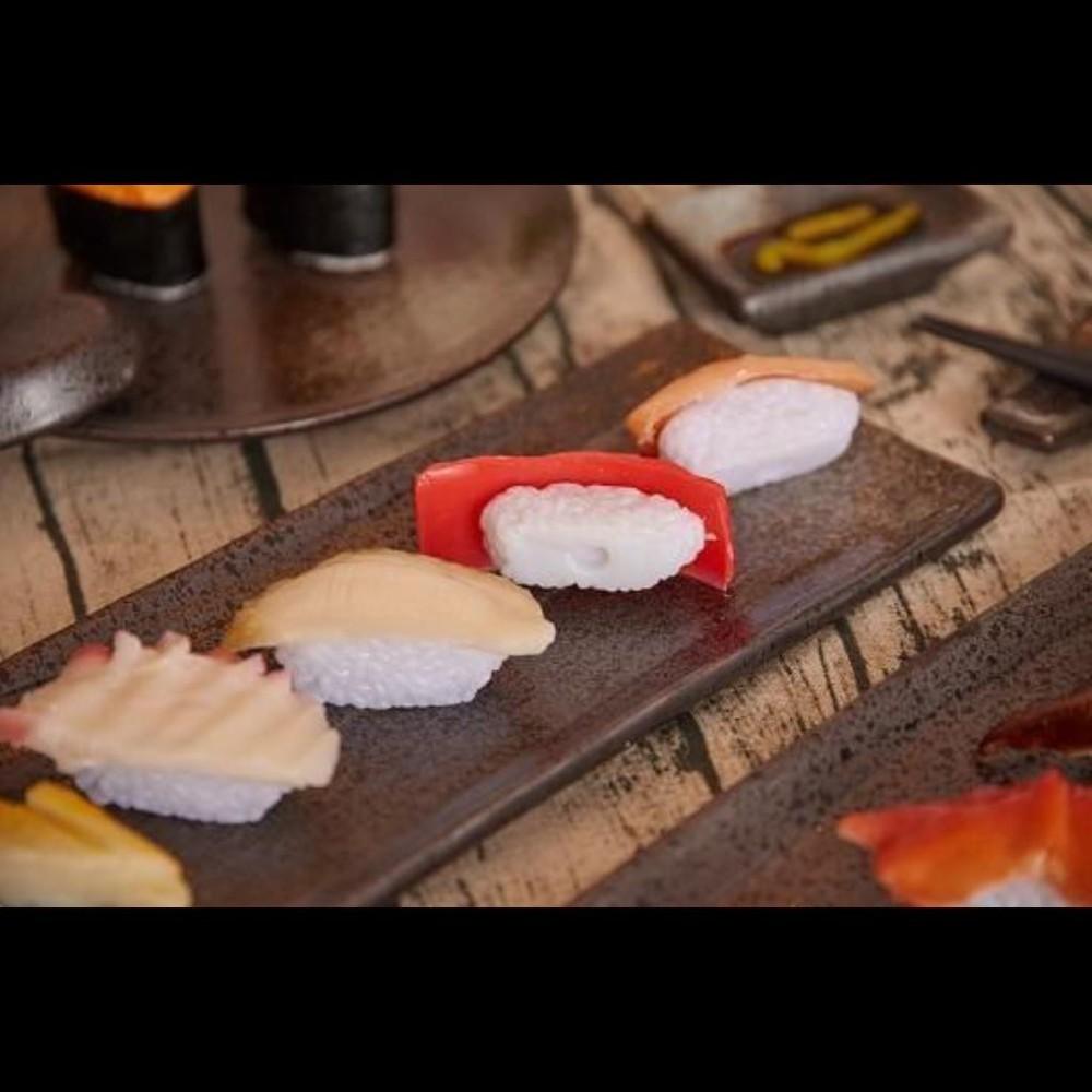 仿真食物壽司料理三文魚墨魚蝦食品模型櫥窗展示擺設裝飾道具玩具12入不同款