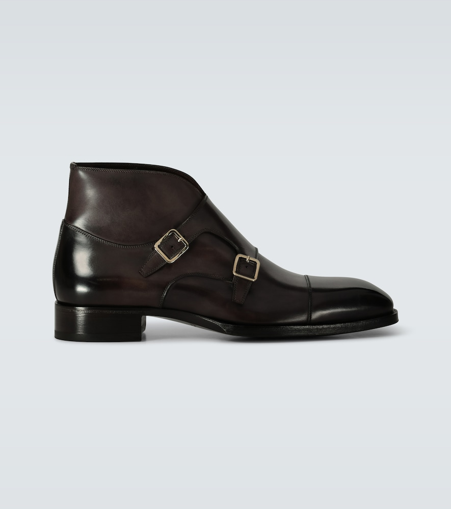 Sutherland double monk strap shoes