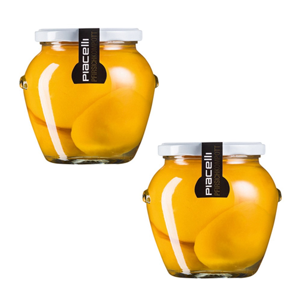 (組)保加利亞Piacelli蜜桃玻璃罐頭560g 2入組
