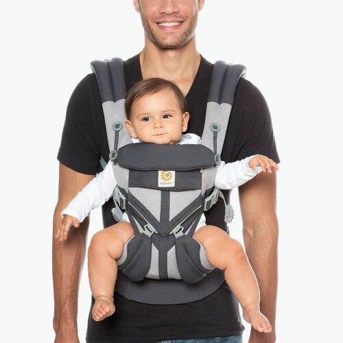 Ergobaby Omni全階段型四式360透氣款嬰兒揹巾/揹帶-碳灰