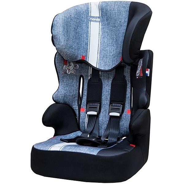 NANIA 納尼亞 (3-12歲)成長型安全汽座/安全座椅-彩繪系列-條紋灰FB00329[衛立兒生活館]