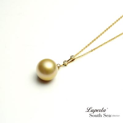 大東山珠寶 真鑽18K金南洋金珍珠項鍊 月神