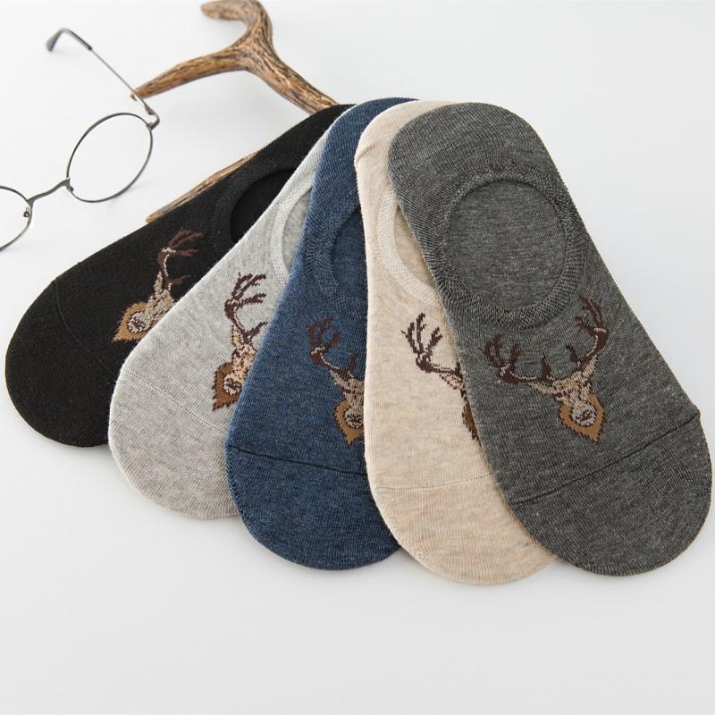夏季日系薄款小鹿短襪 襪子 時尚百搭純棉舒適透氣運動襪 休閒船襪 隱形襪 短筒硅膠防滑襪 男襪 正韓潮流男生配飾 飾品