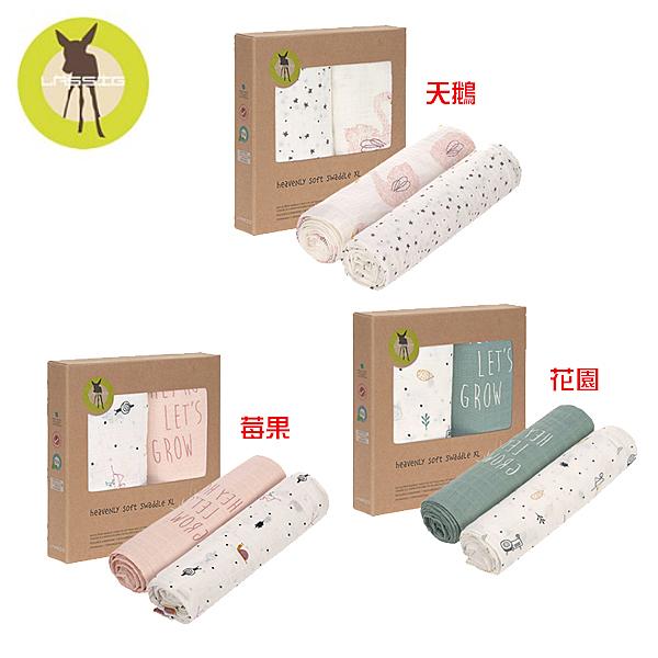 LASSIG 超柔手感竹纖維嬰兒包巾毯120x120cm(2入)