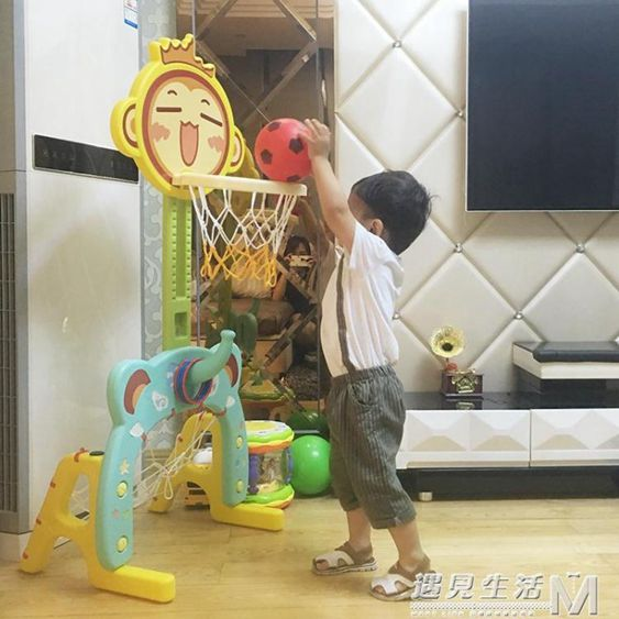 籃球架可升降投籃架籃球框家用室內男孩玩具1-2-3-4周歲WD
