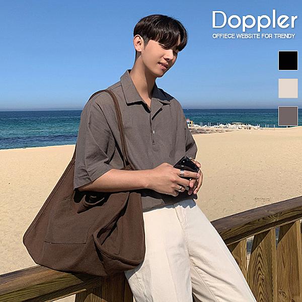 古巴領襯衫 韓系夏季棉麻寬鬆短袖襯衫【TJC8427】預購+現貨