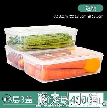 大容量冰箱專用保鮮盒食物蔬菜水果收納盒雞蛋食品冷凍密封塑料盒「錢夫人小鋪」