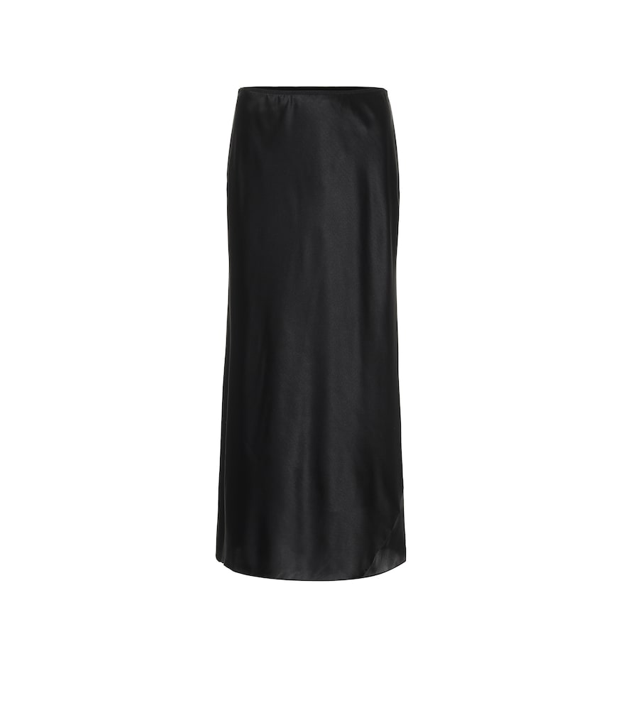 Sense of Shine satin midi skirt