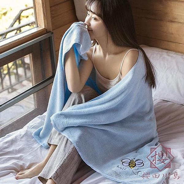 兒童浴巾柔軟男女成人兒童裹巾比純棉吸水加大速干【櫻田川島】